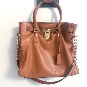 Michael Kors Large Hamilton Bag in Luggage (Tan)